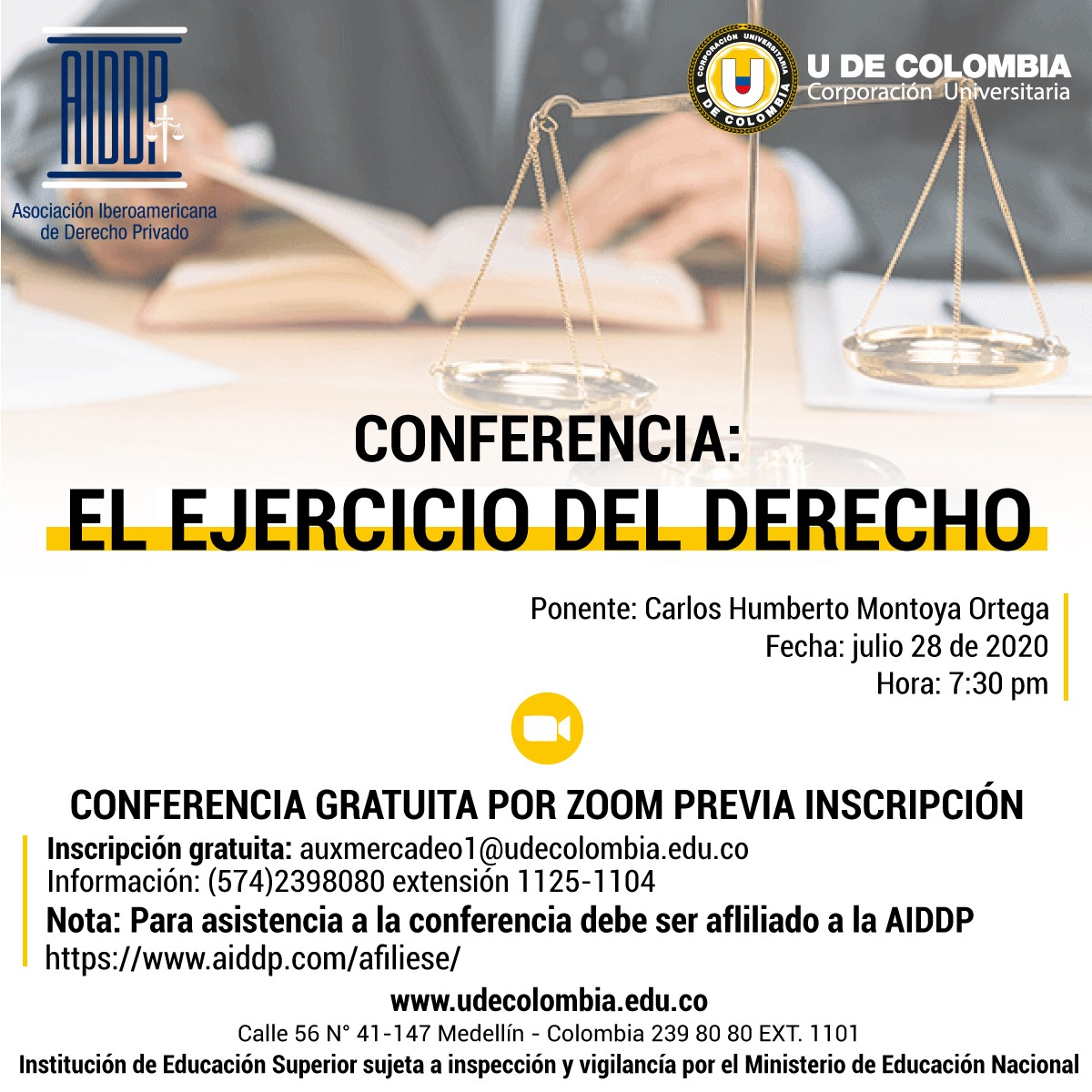 CONFERENCIA EL EJERCICIO DEL DERECHO